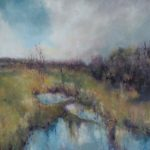 Saturated moorland Annie Musgrove 60 x 60 cm oil on canvas