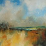 Winters day at Wimbleball 60 x 60 oil on canvas